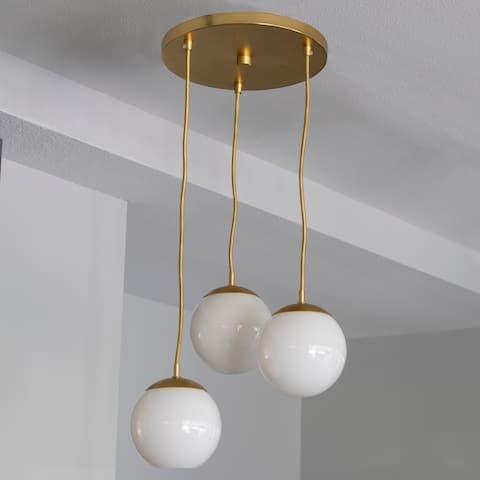 Carson Carrington Henningsvaer Brass 3-light Pendant