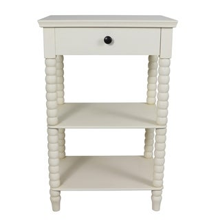 Spindle Painted 1-drawer Casual Side Table