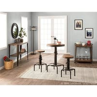 Hydra 3-Piece Industrial Bar Set in Metal and Wood