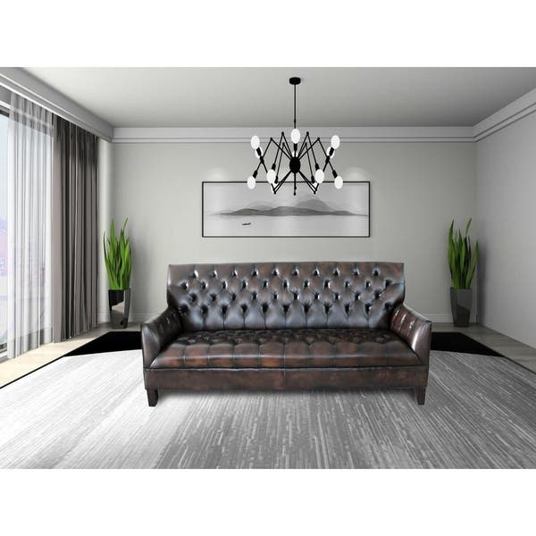 Awe Inspiring Sophia Black Brown Faux Leather Tufted Button Sofa Set Cjindustries Chair Design For Home Cjindustriesco
