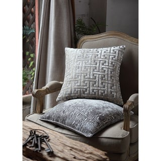 Asher Home Zoey Silver Zebra 18-inch Throw Pillow Cover