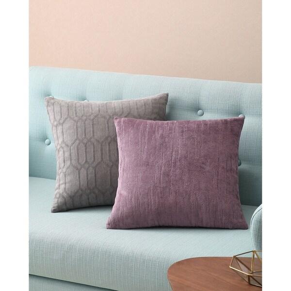 Shop Asher Home Aubrey Purple Textured 18 Inch Throw