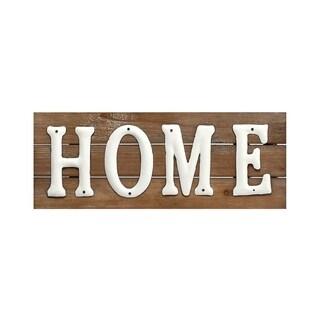 "Wood/Metal Home Sign 7"" X 18.5"""
