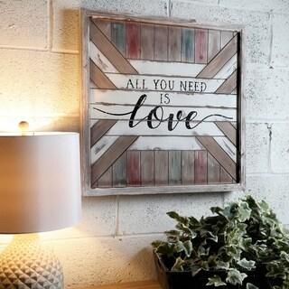 """Wood Slat 'Love' Sign' 24"""""""