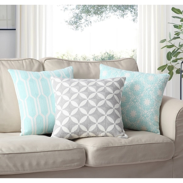 Shop Asher Home Ava Grey Geometric 40inch Throw Pillow Cover Free Beauteous 27 Inch Pillow Covers