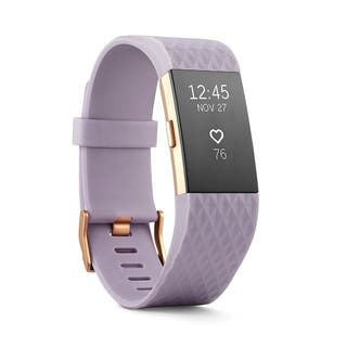 Fitbit Charge 2 Heart Rate & Activity Tracker Wristband Lavender/ Rose Gold Small