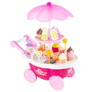 Link to Kids Ice Cream Cart-Mini Pretend Play Food Stand by Hey! Play! Similar Items in Pretend Play