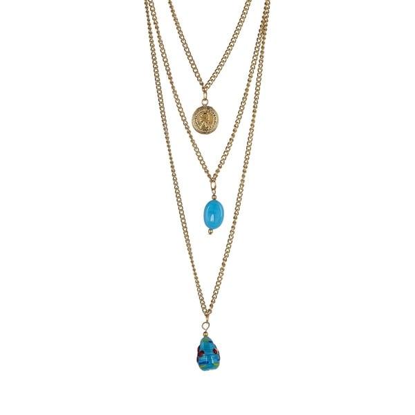 f39e0384de79e5 Shop Ten79LA Coin Multi Layer Necklace - Free Shipping On Orders ...