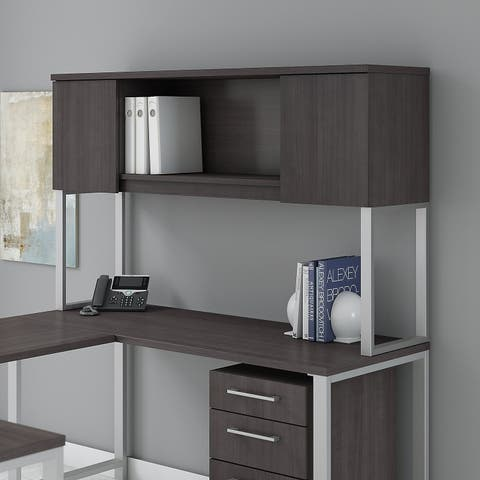 Bush Business Furniture 400 Series 60W Hutch in Storm Gray