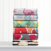 Asher Home Tropical Plush Throw Blanket
