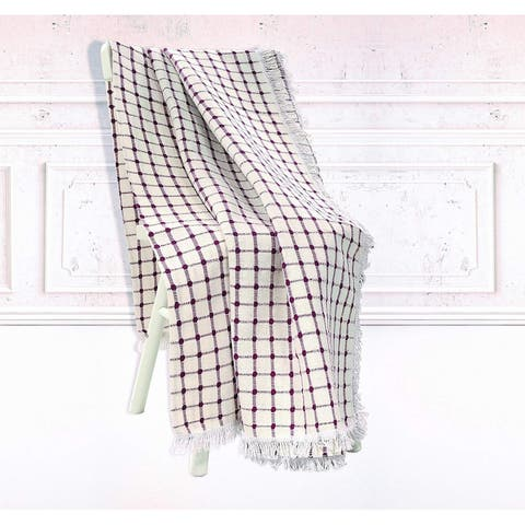 Chiara Rose Multi-Purpose Natural Turkish Cotton Throw Blanket