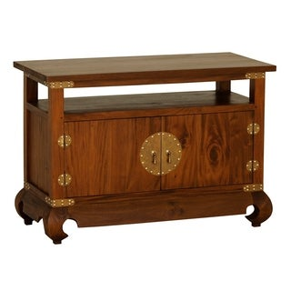 Ming Brown Solid Mahogany Wood TV Stand