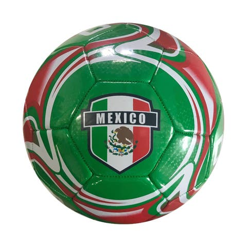 Icon Sports Mexico Official Size 5 Regulation Soccer Ball - Green