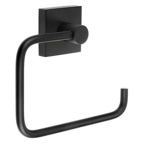 Smedbo House Euro Style Toilet Paper Holder - Matte Black