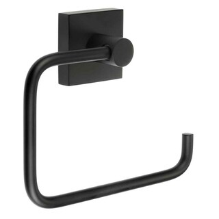 Smedbo House Euro Style Toilet Paper Holder - Matte Black