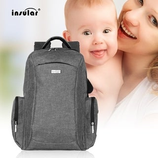 INSULAR Multifunctional Double Shoulder Bag Mummy Bag Nylon Baby Diaper Bag