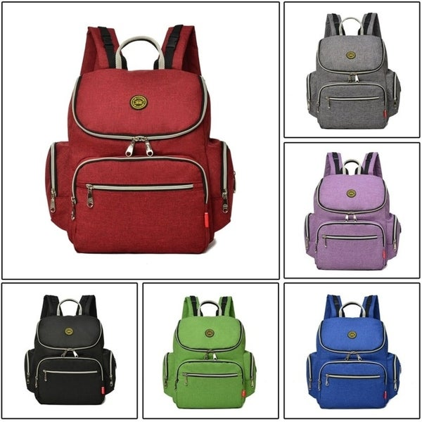 Baby Diaper Bag Mommy Bag Travel Backpack With Stroller Straps Shoulder Bag
