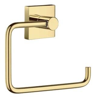 Smedbo House Polished Brass Toilet Paper Holder - Gold