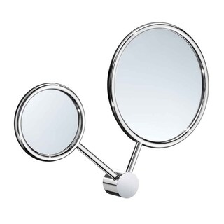 Smedbo Art 7 X'S Mag Regular Double Make Up Mirror in Polished Chrome Finish - Silver