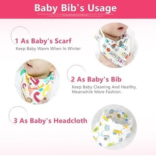 Universal Baby Drool Triangle Bibs With Snaps For Drooling Feeding Baby