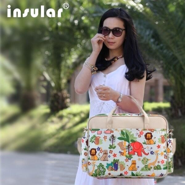 INSULAR Multifunctional Mummy Bag Single Shoulder Baby Diaper Bag Nappy Bag