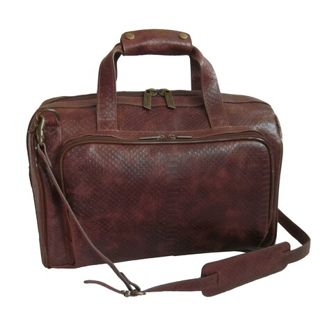 Amerileather Brown 16-inch Leather Carry on Weekend Duffel (2117-7)