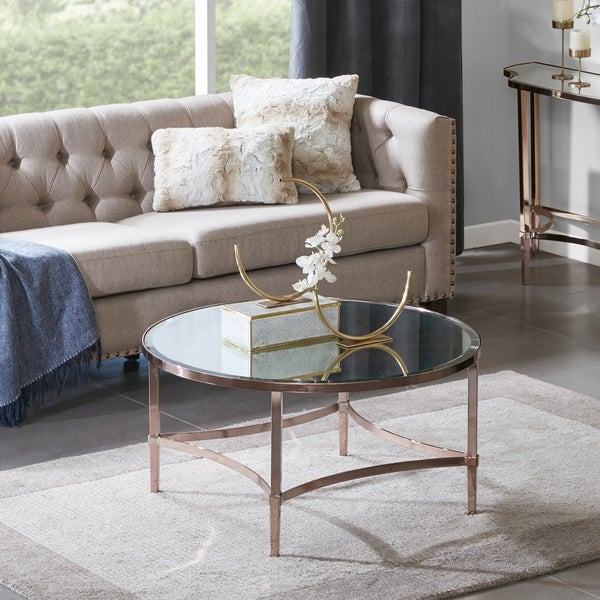 shop madison park signature triton rose gold coffee table on sale free shipping today. Black Bedroom Furniture Sets. Home Design Ideas