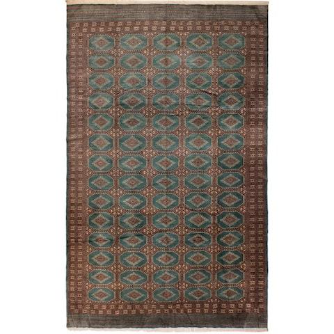 Bokhara Mazie Lt. Green/Lt. Brown Wool Rug (10'0 x 13'11) - 10 ft. 0 in. x 13 ft. 11 in. - 10 ft. 0 in. x 13 ft. 11 in.
