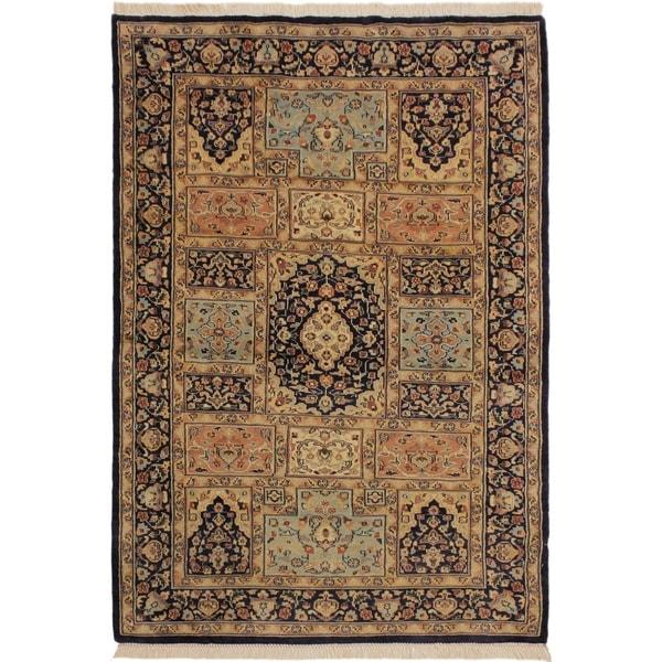 Shop Bokhara Wanetta Blue/Beige Wool Rug (4'2 X 6'10)