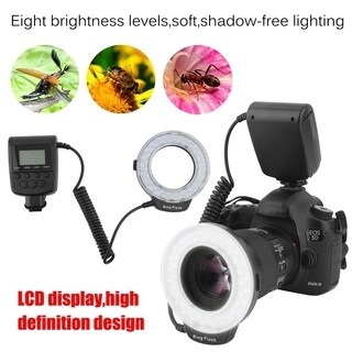Macro 46 Pieces LED Ring Flash Light For DSLR Camera Photography Accessory