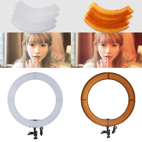 18 Inch 240LED Ring Light Dimmable 5400K Photo Studio Phone Video Photography