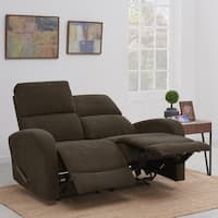 ProLounger Brown Chenille 2 Seat Recliner Loveseat