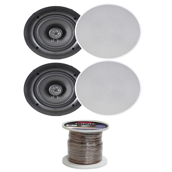 Shop Pyle PDIC66 200W In-Ceiling Dual Stereo Speakers