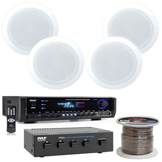 "5.25"" Speaker Sys, 2Way 4Ch Speaker 16Ga 100'.Home Theater+ Receiver"