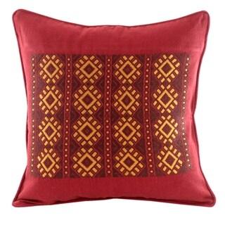 Novica Handmade Stars Of Solola Cotton Cushion Cover - Guatemala