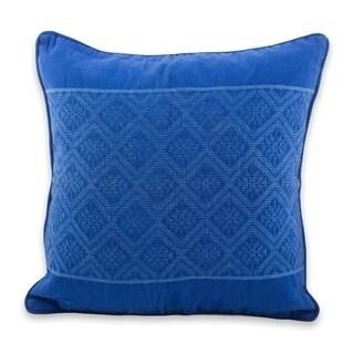 Novica Handmade Sky Diamonds Cotton Cushion Cover - Guatemala