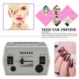 Universal 3000RPM Manicure Tool Electric Nail File Drill With Foot Pedal - black