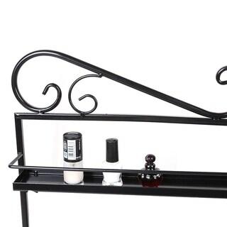 5 Layers Durable Metal Wire Nail Polish Display Organizer Wall Rack Tool - black