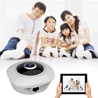 360 Degree VR 3D WiFi Wide Angle HD Panoramic Camera Indoor Camera - WHITE - us plug