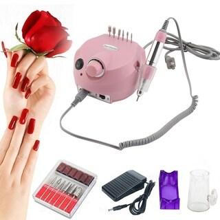 30000RPM Max Studio Home Electric Manicure Machine Nail Polisher Nail Art Pen - Pink