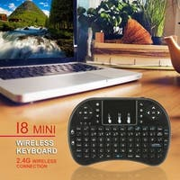 2.4GHz 92 Keys Wireless Keyboard with Touchpad Mouse for Android TV Box PC - black