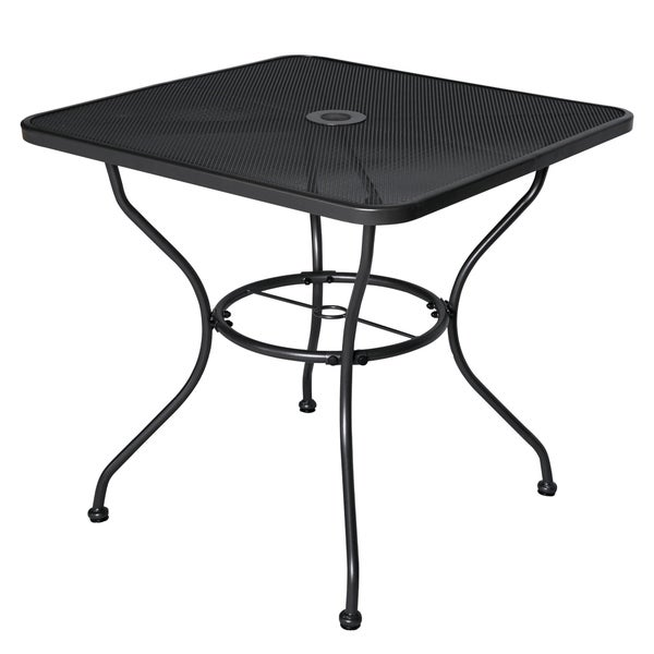 "Patio Umbrella Stand Table: Shop 30"" X 30"" Patio Dining Table Square Powder-coated"
