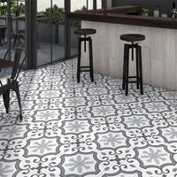 SomerTile 9.75x9.75-inch Garrone Grey Porcelain Floor and Wall Tile (16 tiles/10.76 sqft.)