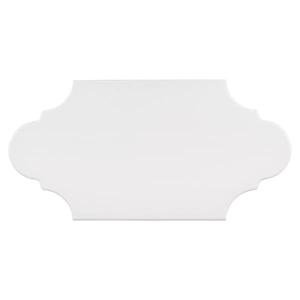 Shop SomerTile Xinch Textilis Provenzal Basic White - 6 x 12 white porcelain tile
