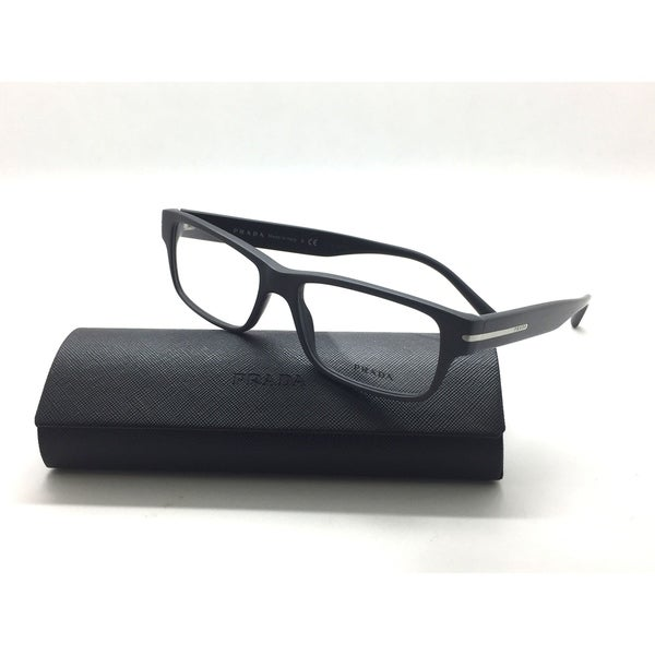 f9ec8fd7c3e Shop Prada Matte Gray Rectangle VPR 22R TV4-1O1 Authentic Eyeglasses ...
