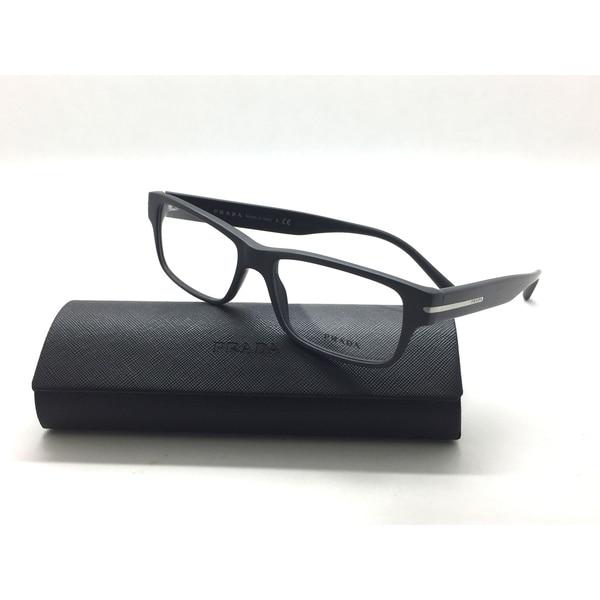 f9ec8fd7c3e Shop Prada Matte Gray Rectangle VPR 22R TV4-1O1 Authentic Eyeglasses ...