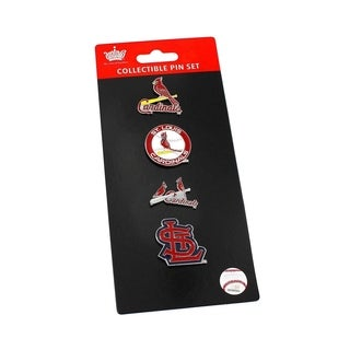 MLB St Louis Cardinals Sports Team Logo 4 Pin Collectible Sets