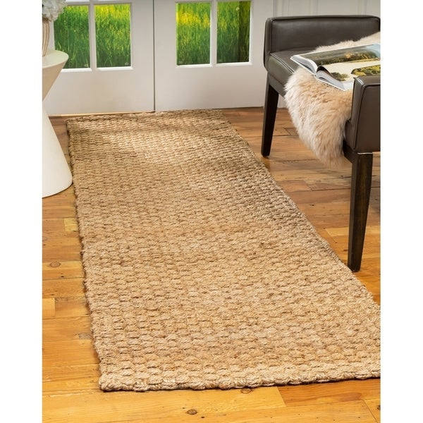 Shop Natural Area Rugs 100 Natural Fiber Handmade Basketweave