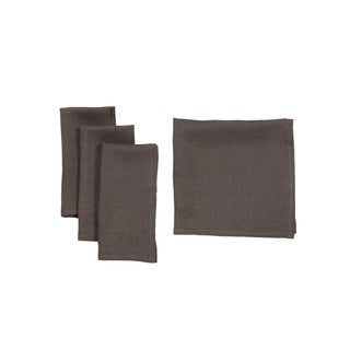 Classic Linen Napkins 20 by 20-Inch, Set of 4, Dark Gray