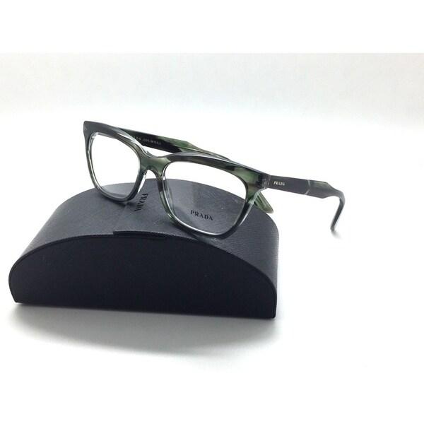 3c14839635 Shop PRADA Translucent Stripped Gray VPR 24S UEP-101 53mm Eyeglasses ...
